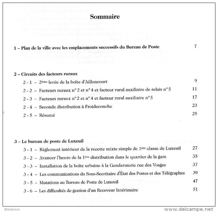 LES FEUILLES MARCOPHILES - LA POSTE A LUXEUIL (70) 1851 à 1918 - Non Classificati