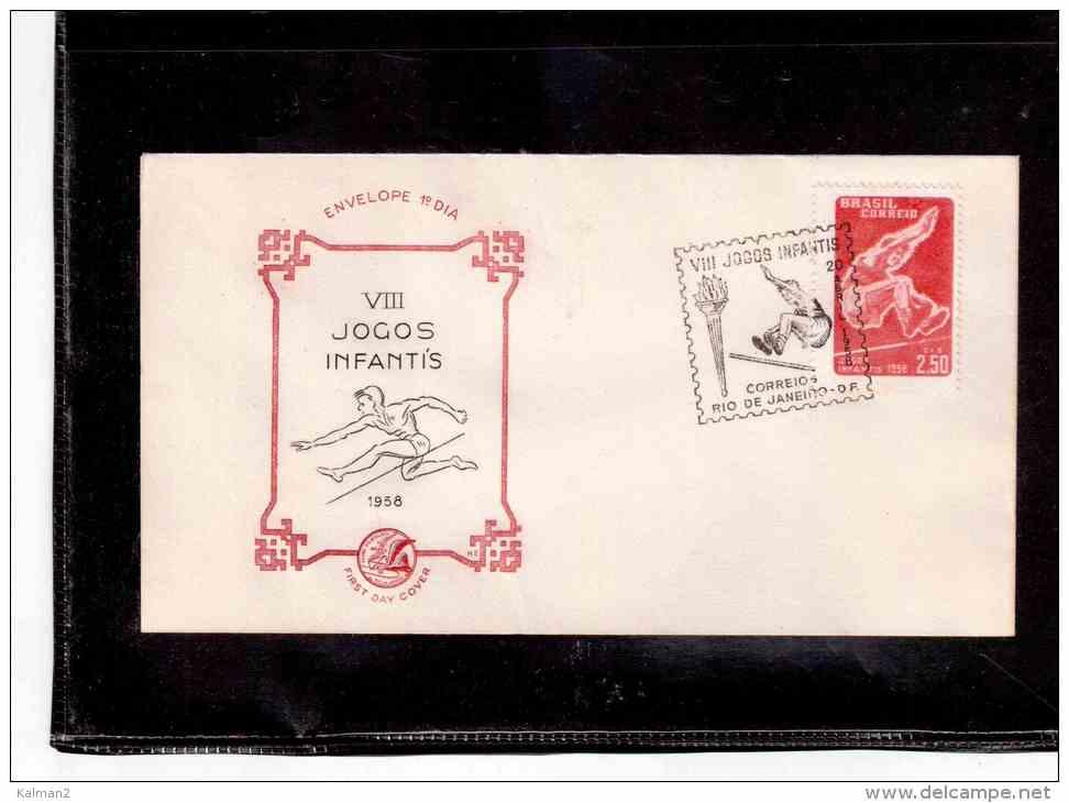 "TEM4221  -   "" VIII JOGOS INFANTIS  1958 ""   /   FDC   20.4.1958 - Francobolli"