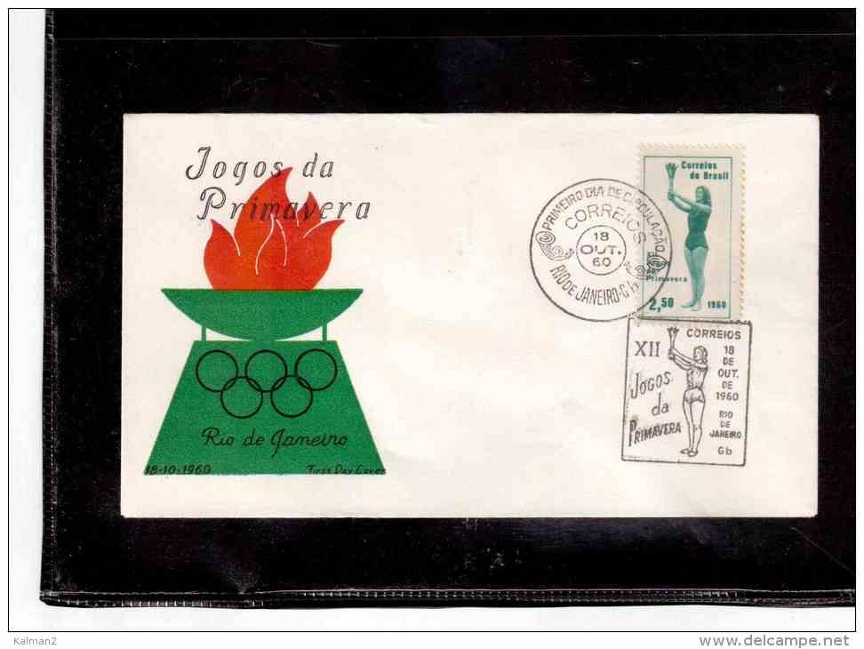 "TEM4231  -   ""    XII  JOGOS DE PRIMAVERA   ""   /   FDC   18.10.1960 - Francobolli"
