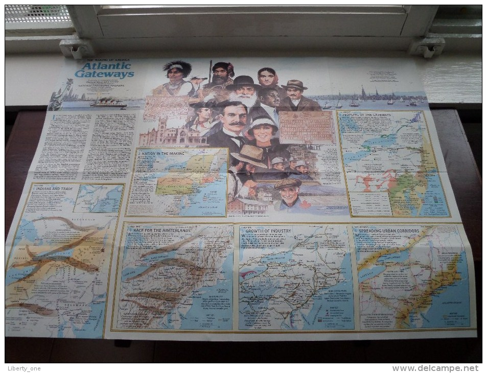 ATLANTIC GATEWAYS ( Supplement National Geographic ) Scale : 1,318,000 / 1983 ! - Welt
