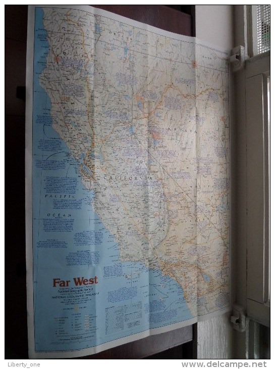 FAR WEST ( Supplement National Geographic ) Scale : 1,871,000 / 1984 ! - World