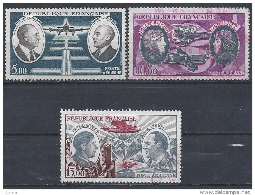 France Poste Aérienne N°46 à 48 Obl. - 1960-.... Gebraucht
