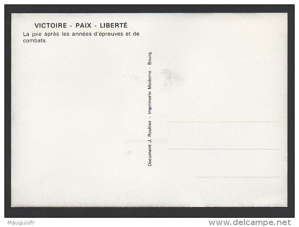 DF / CHARLES DE GAULLE / CARTE POSTALE / TP 2368 RETOUR A LA PAIX / OBL 8 MAI 1985 PARIS / FLAMME APPEL 18 JUIN - De Gaulle (Général)