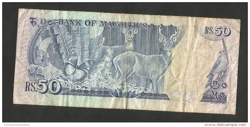 [NC] MAURITIUS - BANK Of MAURITIUS - 50 RUPEES (1986) - Maurice