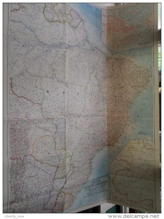 Eastern SOUTH AMERICA ( National Geographic ) Scale I : 5.000.000 Or 78.91 Miles To The Inch - 1955 ! - World