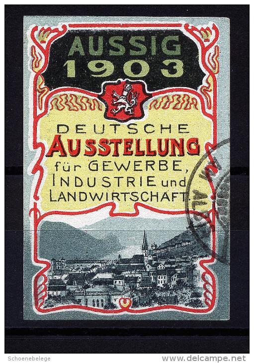 A2771) Aussig Bohemia Böhmen Vignette Zur Deutschen Ausstellung Gewerbe Industrie 1903 - Historische Dokumente