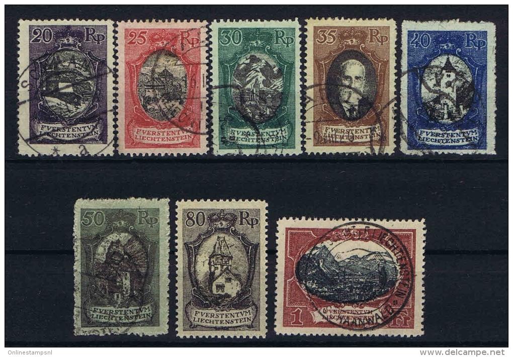 Liechtenstein: 1921 Mi Nr 53 - 60  Used 80 Rp - MH/* - Liechtenstein
