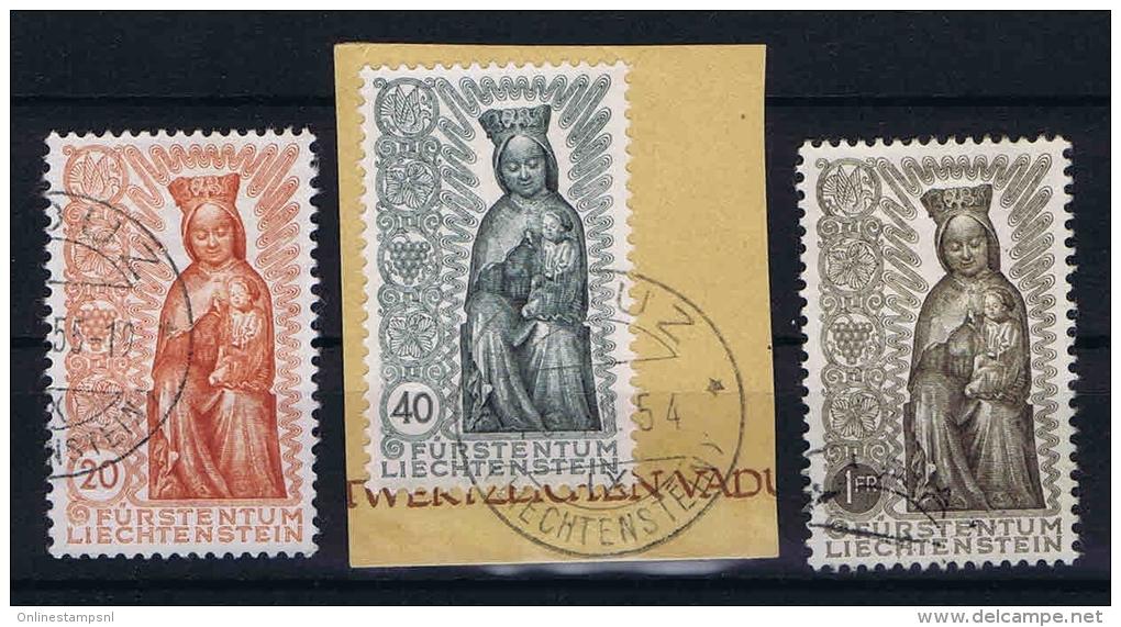 Liechtenstein: 1954 Mi Nr 329-331 Used - Liechtenstein