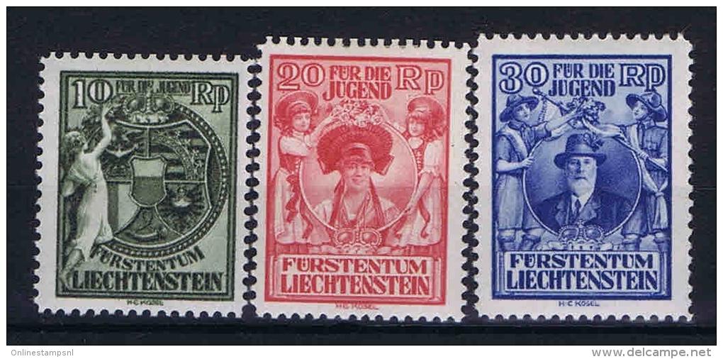 Liechtenstein: 1932 Mi Nr 116-118 MH/* - Liechtenstein