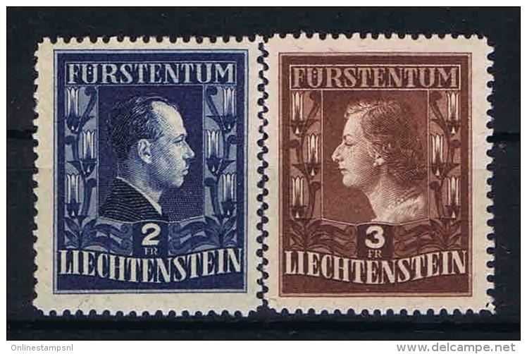 Liechtenstein: 1951  Mi Nr 304-305 A  MNH/** - Liechtenstein