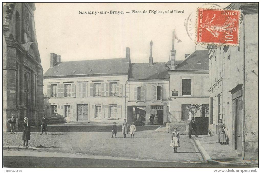 41 SAVIGNY SUR BRAYE Place De L'eglise Animée - France