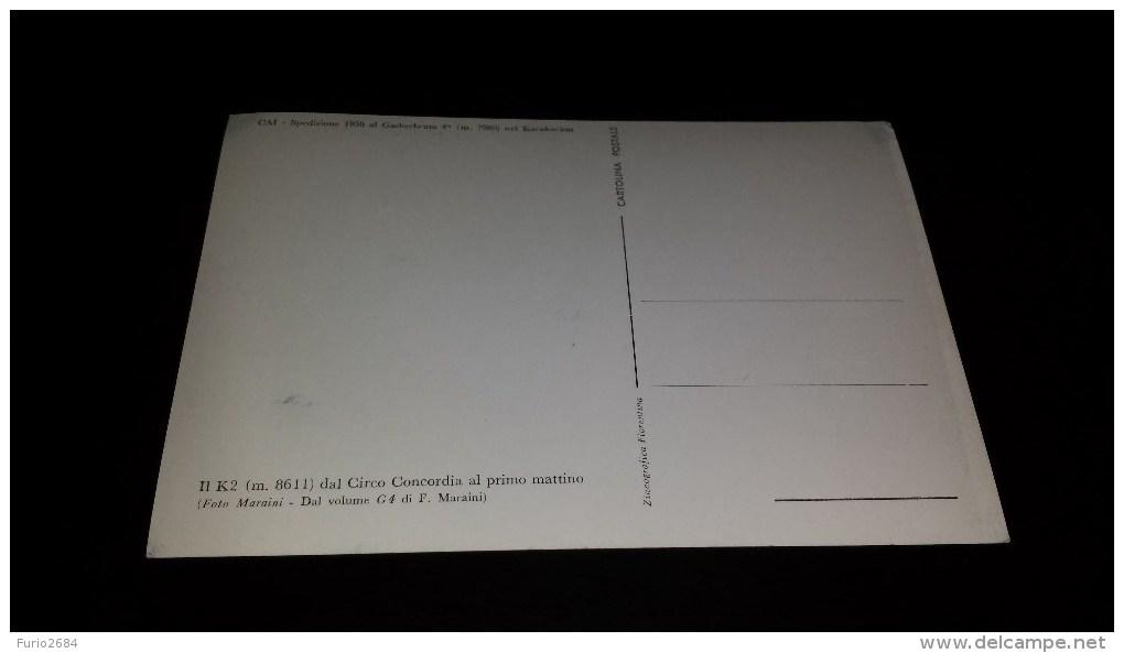 C-7337 CARTOLINA CAI - SPEDIZIONE 1958 AL GASHERBRUM 4´ M.7980 NEL KARAKORUM - IL K2 M.8611 - Eventi
