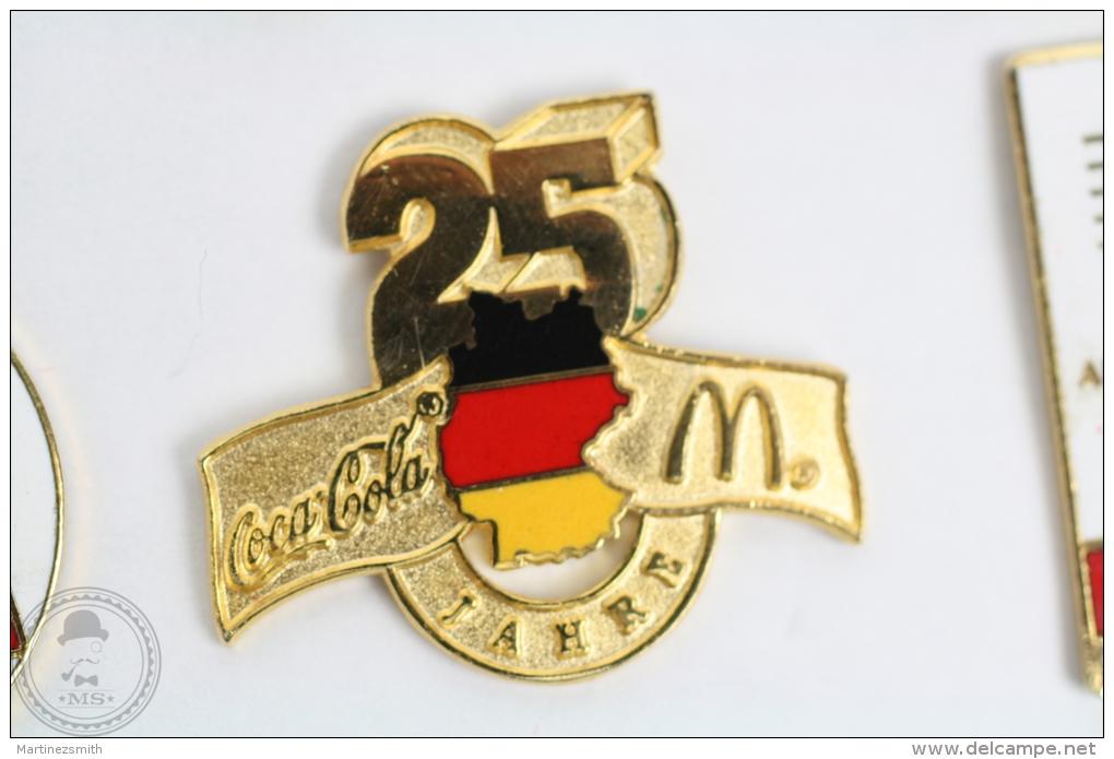 Coca Cola & McDonalds - Germany 25 Anniversary Pin Badge #PLS - Coca-Cola