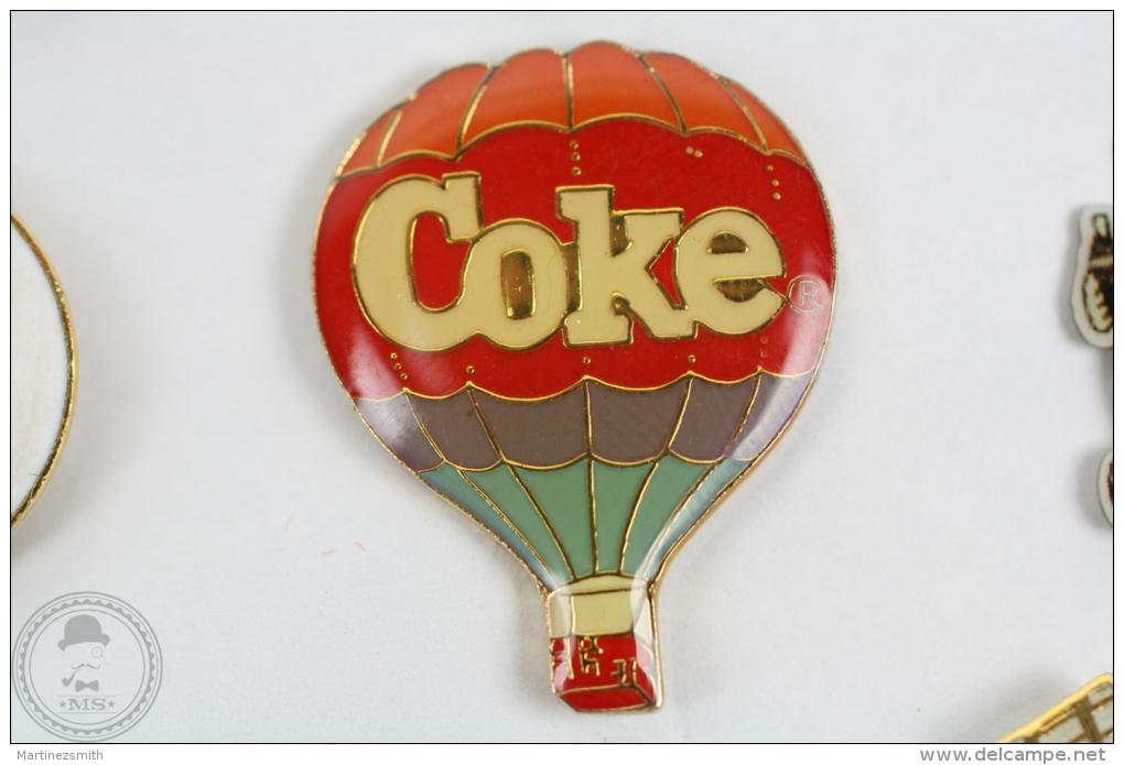 Coca Cola Coke Hot Air Balloon - Pin Badge #PLS - Coca-Cola
