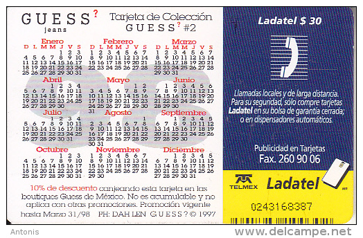 MEXICO - Guess, Calendar 1997, Used - Mexico