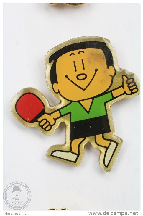 Ping Pong Japan Mascot - Green Shirt - Pin Badge #PLS - Pin