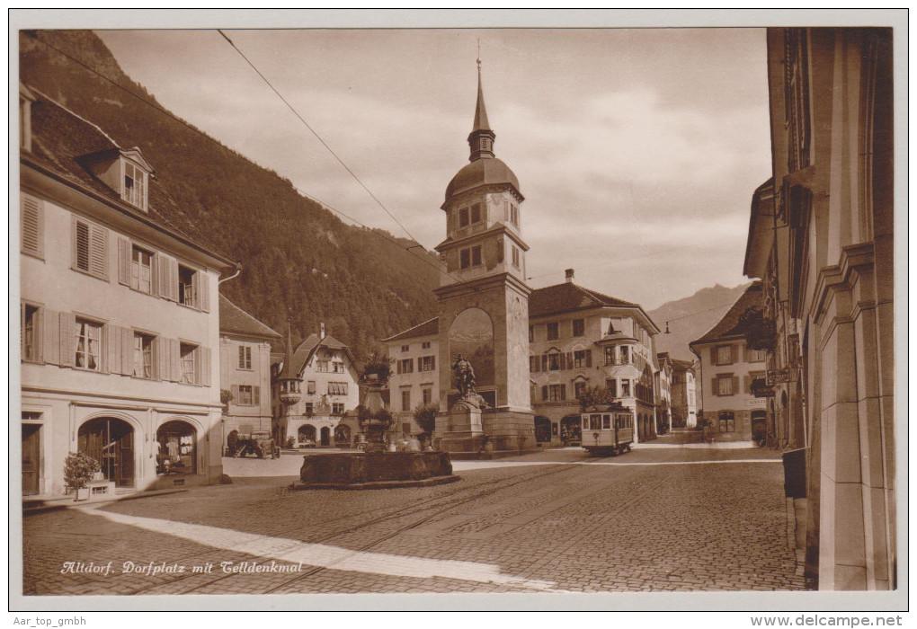 Uri ALTDORF Ungebraucht Dorfplatz Mit Tram Photoglob ZH - UR Uri