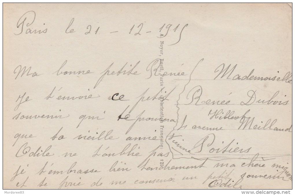 SEMEUSE 147 SUR CPA PARIS 21/12/15 POUR POITIERS   Tds - 1877-1920: Semi Modern Period