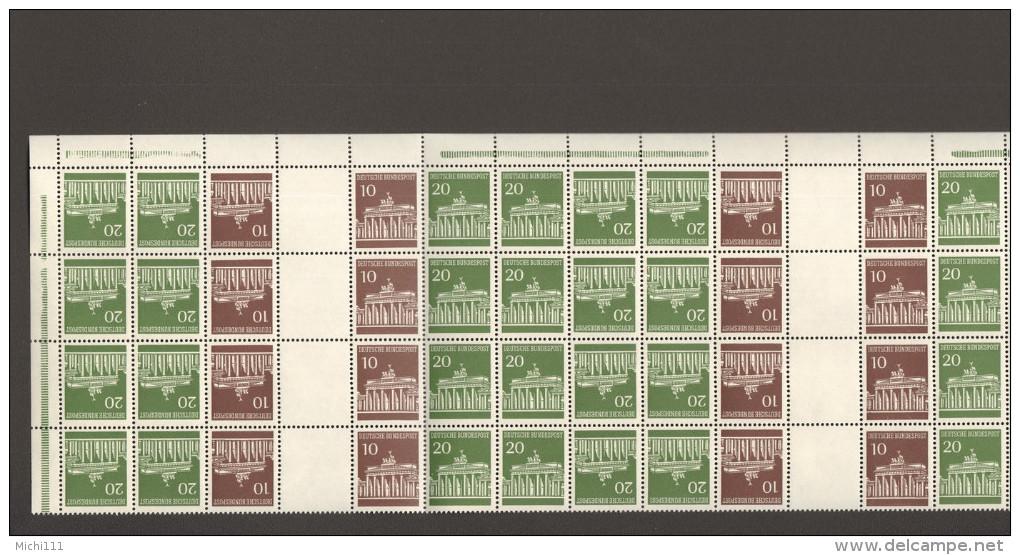 BRD Brandenburger Tor Markenheftchenbogen MHB 13 ** 4er Streifen Mit Oberrand MNH 2 Bilder - Carnets