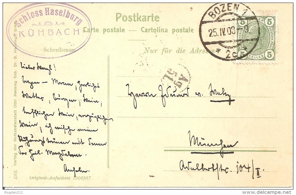 1903 - BOLZANO-BOZEN, Super Zustand, 2 Scan - Bolzano (Bozen)
