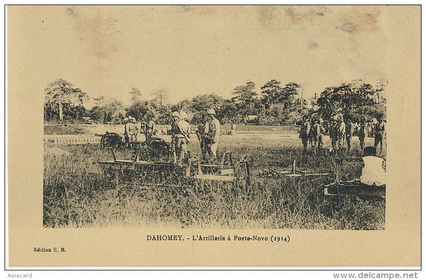 Dahomey 15 Artillerie A Porto Novo 1914  Edit E.R. Taches En Haut - Dahomey