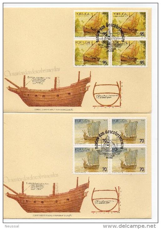 Serie De Barcos De Portugal En Bloque De 4. 1990 - 1910-... República