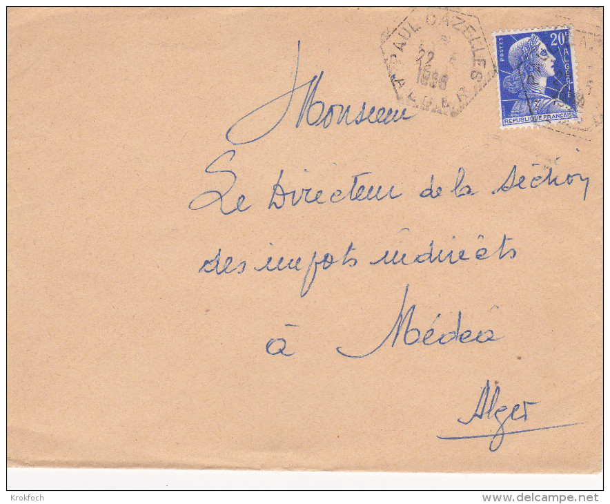 Paul Cazelles 1956 Alger - Hexagonal - Covers & Documents