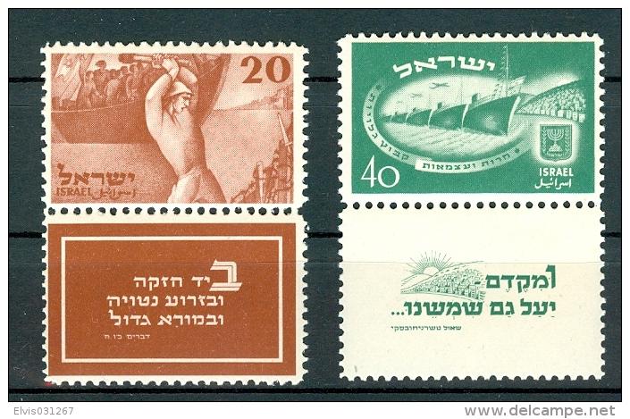 Israel - 1950, Michel/Philex No. : 30/31, - MNH - Sh. Tab - - Neufs (avec Tabs)