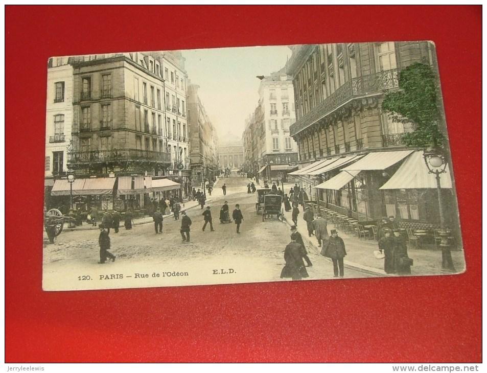 PARIS  -   Rue L'Odéon  -   1908   -  (2 Scans) - Autres