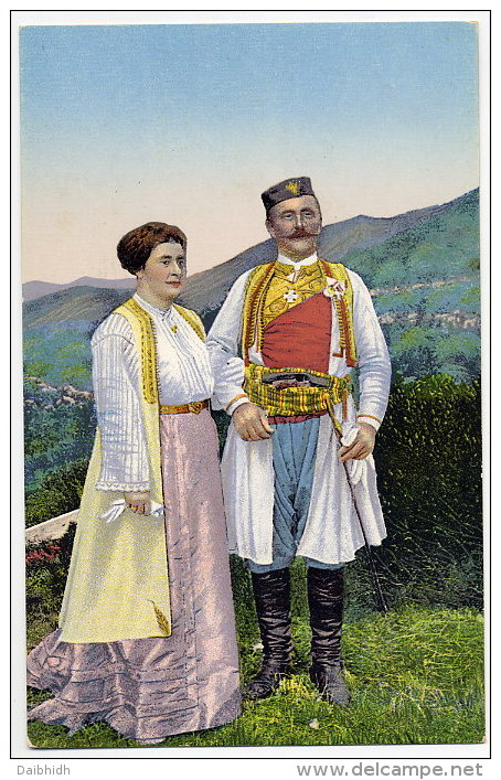 MONTENEGRO National Costumes.  Unused, Very Fresh And Clean - Montenegro