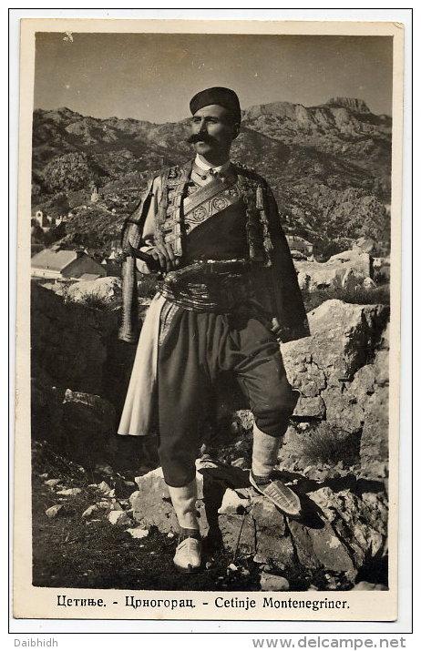 MONTENEGRO Postcard:  Men's National Costume From Cetinje.  Unused - Montenegro