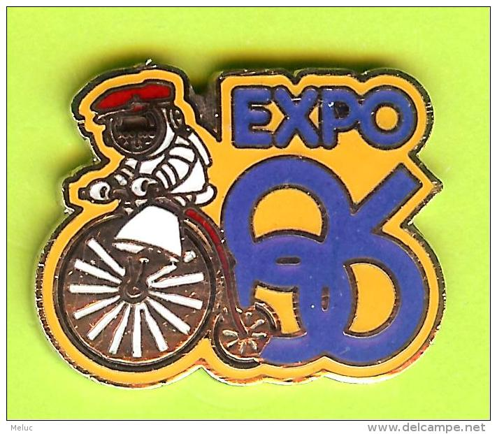 Pin Expo 86 Mascotte Cyclisme Ancien Vélo - 7F25 - Cyclisme