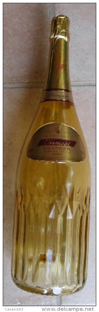 BOUTEILLE FACTICE  - CHAMPAGNE   -  DIAMANT  -  VRANKEN - REIMS  ( Magnum De 3000 Ml  ) - Champagne & Mousseux