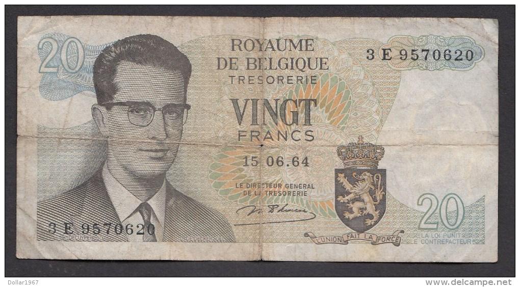 België Belgique Belgium 15 06 1964 20 Francs Atomium Baudouin. 3 E 9570620 - 20 Francs