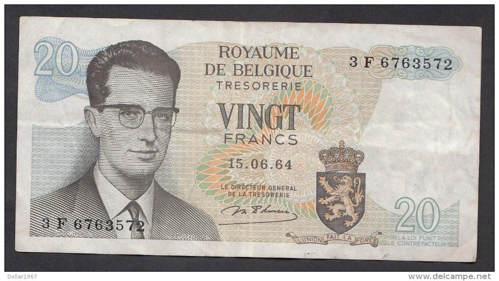 België Belgique Belgium 15 06 1964 20 Francs Atomium Baudouin. 3 F 6763572 - [ 6] Treasury