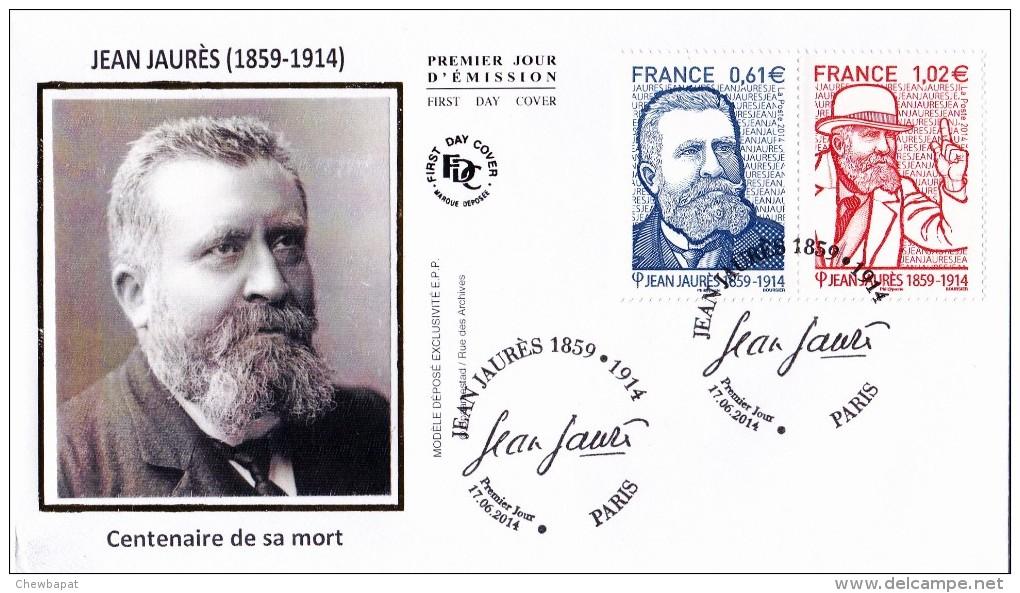 FDC 2014 - Jean Jaurès - 1er Jour Le 17.06.2014 à Paris - FDC