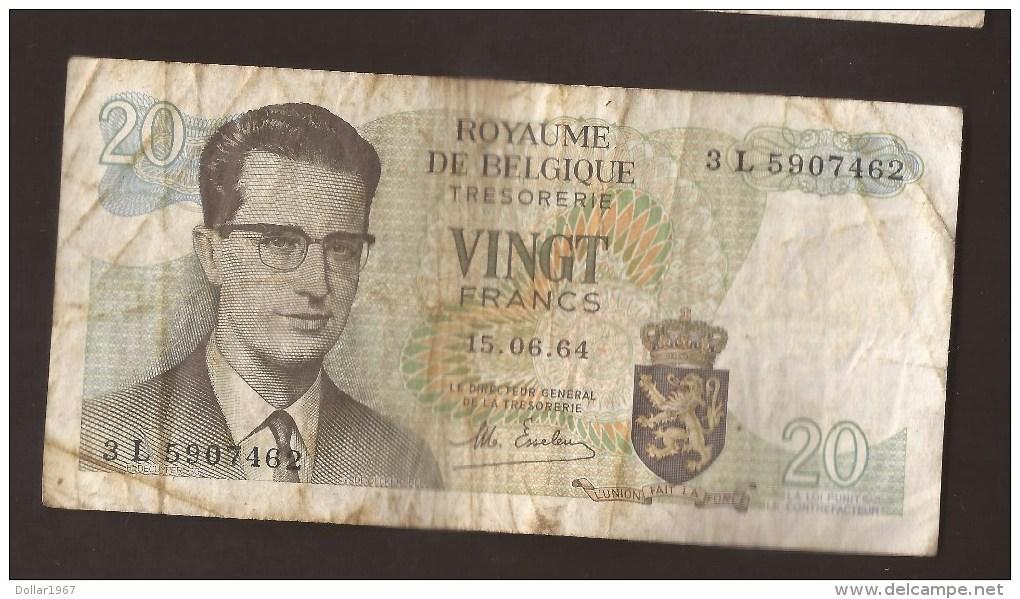 België Belgique Belgium 15 06 1964 20 Francs Atomium Baudouin. 3 L 5907462 - 20 Francs