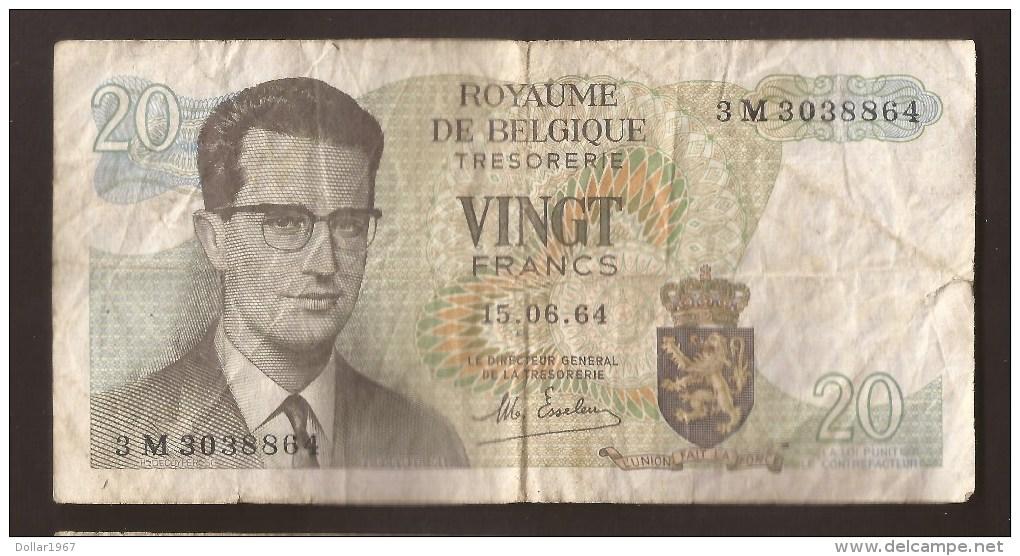 België Belgique Belgium 15 06 1964 20 Francs Atomium Baudouin. 3 M 3273524 - 20 Francs