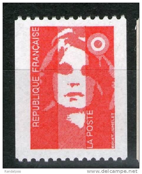 Roulette 2819a** Gomme Brillante Jaunâtre N° Rouge_cote 2.50_V483) - Variedades: 1990-99 Nuevos