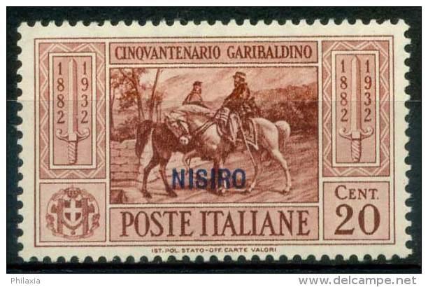 #14-06-00449 - Nisiro - 1932 - Sass. 18 - MH - QUALITY:80% - Garibaldi - Aegean (Nisiro)