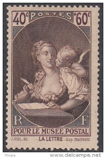 France / Frankreich 1939 : Mi. 461 *  - Pour Le Musee Postal - La Lettre  . B0313 - Frankrijk