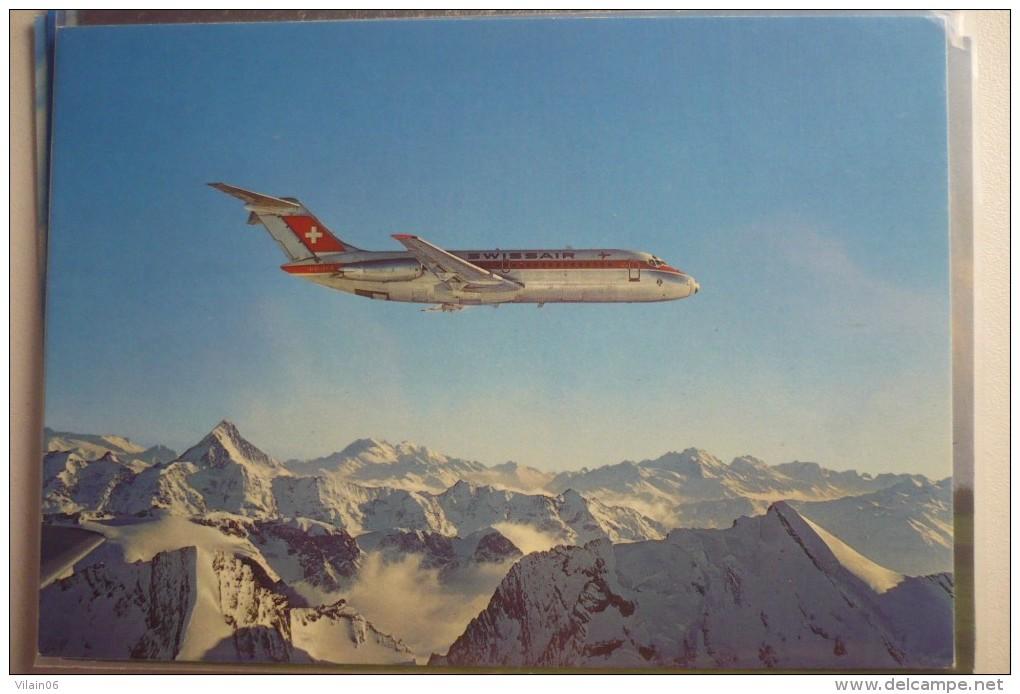 AIRLINE ISSUE / CARTE COMPAGNIE    SWISSAIR  DC 9 - 1946-....: Era Moderna