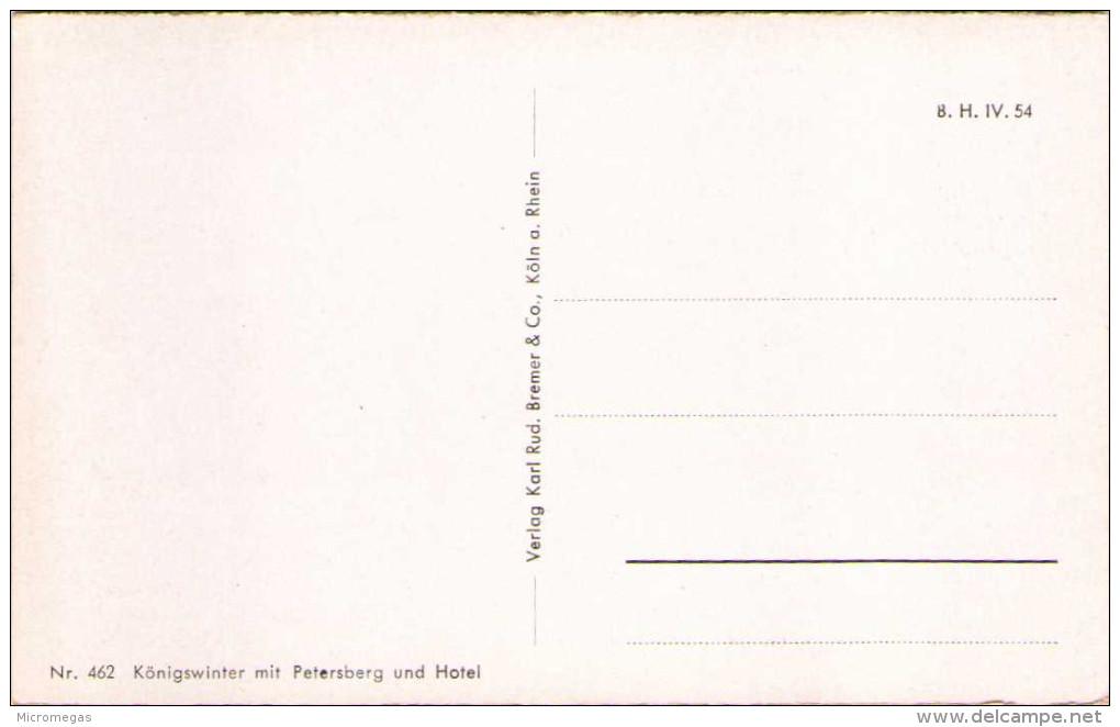 Königswinter Mit Petersberg Und Hotel - Koenigswinter