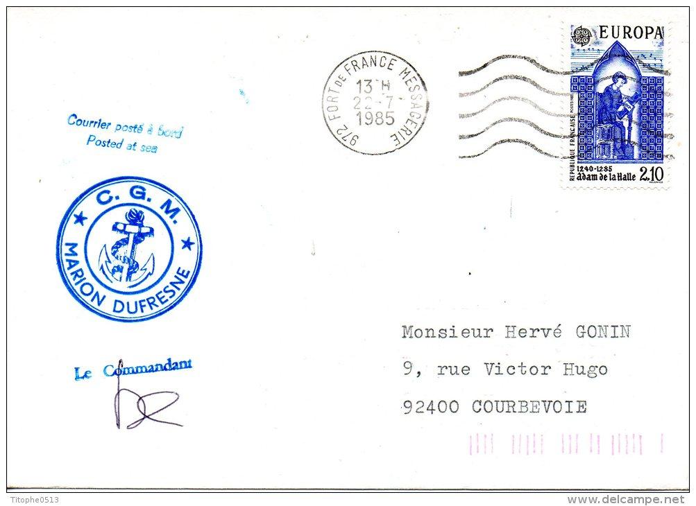 FRANCE. Enveloppe Commémorative De 1985. Marion Dufresne. - Autres