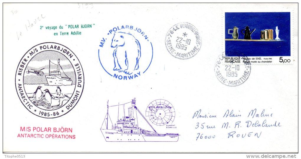 FRANCE. Enveloppe Commémorative De 1989. Le Polar Björn En Terre Adélie/ours Polaire. - Terres Australes Et Antarctiques Françaises (TAAF)