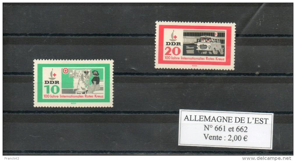 RDA. Centenaire De La Croix Rouge - Unused Stamps