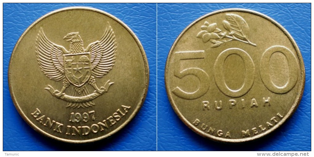 INDONESIA 500 Rupiah 1997 - NATIONAL EMBLEM - Indonésie