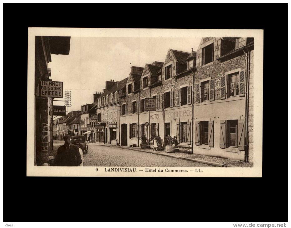 29 - LANDIVISIAU - Hôtel Du Commerce - Carte Pub - Landivisiau