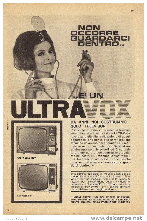 # ULTRAVOX TV TELEVISION ITALY 1950s Advert Pubblicità Publicitè Reklame Publicidad Radio TV Televisione - Televisione