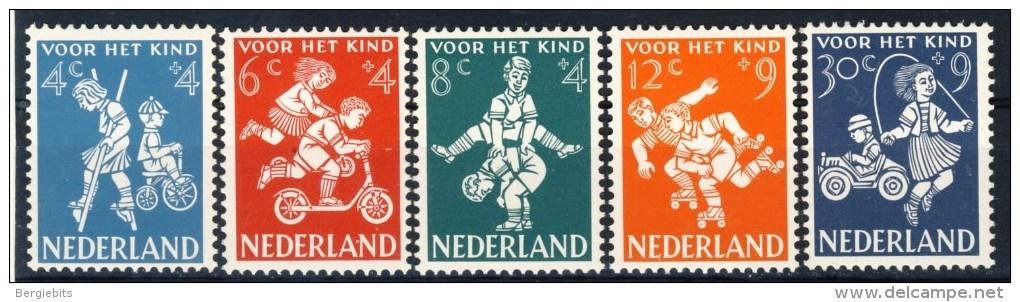 """1958 Netherlands Complete MNH Set Of 5 Stamps """" Voor Het Kind"""" Michel 723-727 - Period 1949-1980 (Juliana)"""